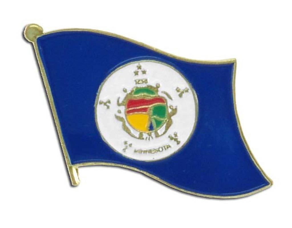 Online Stores Lapel Pin - Minnesota Flag