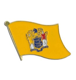 Online Stores Lapel Pin - New Jersey Flag