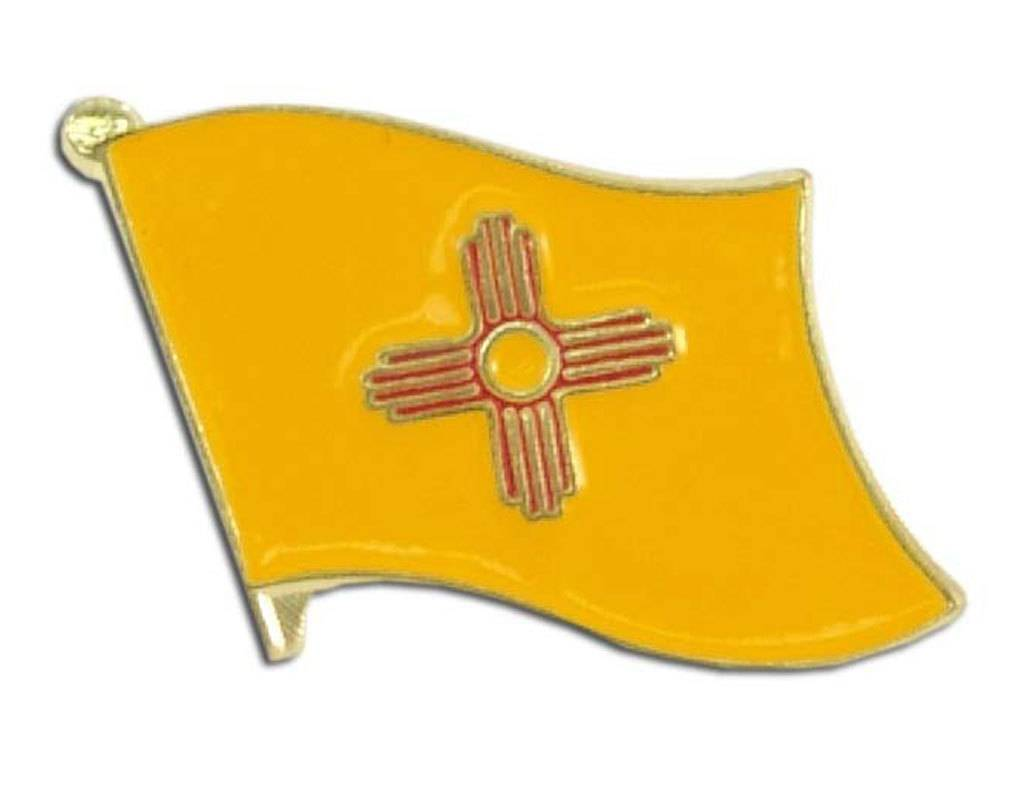 Online Stores Lapel Pin - New Mexico State Flag