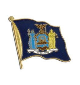 Online Stores Lapel Pin - New York Flag