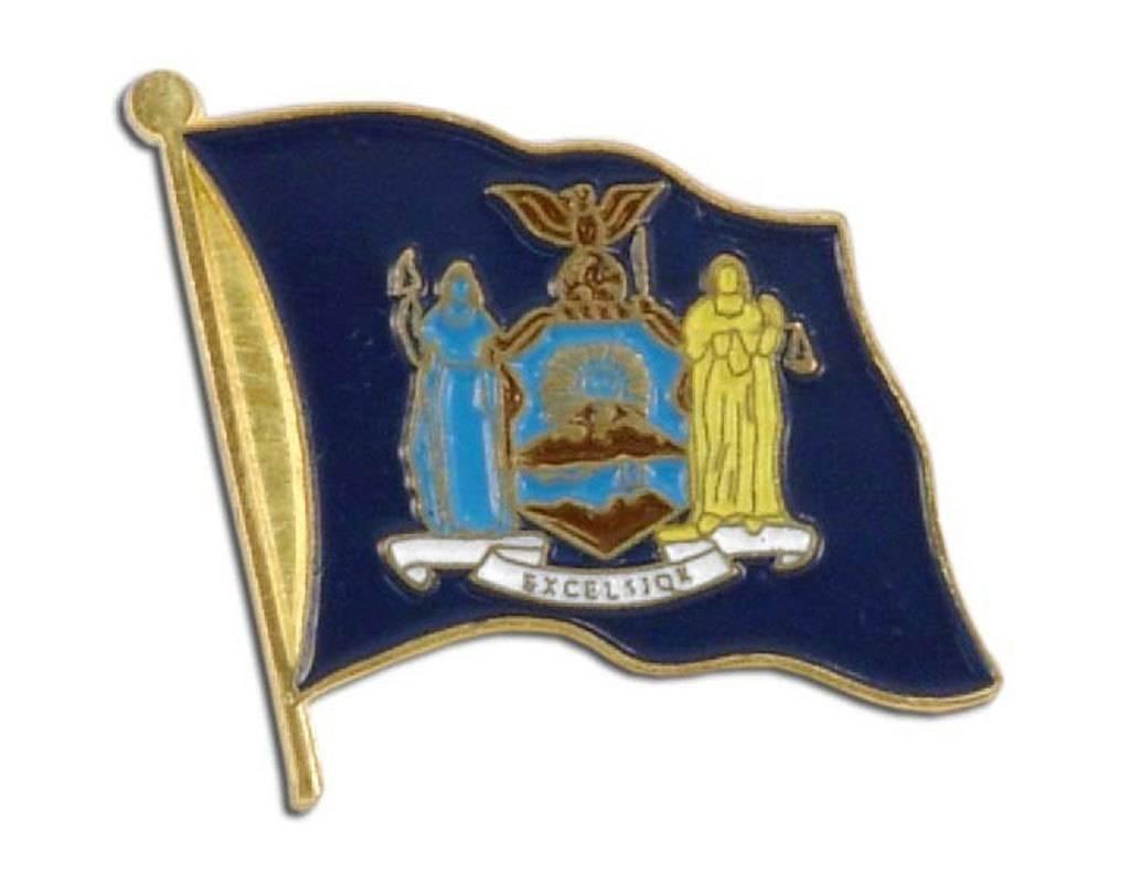 Online Stores Lapel Pin - New York Flag