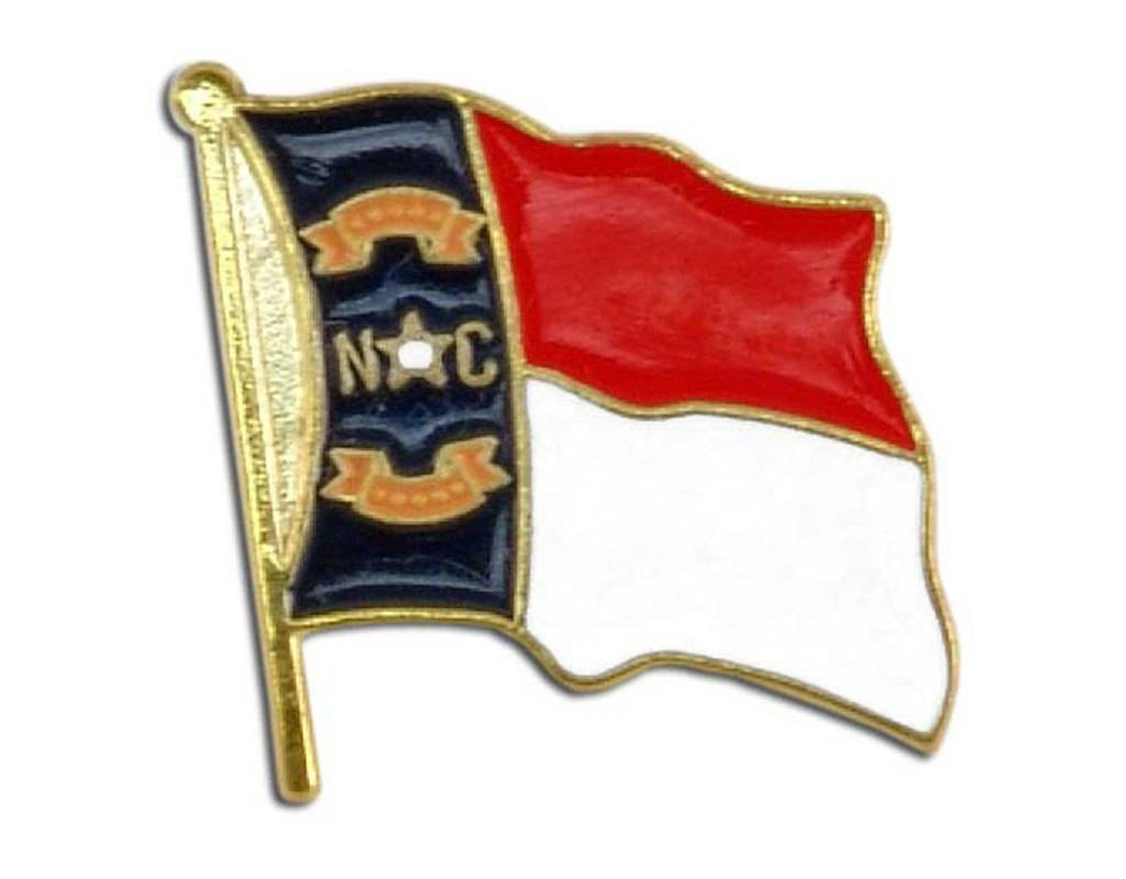 Online Stores Lapel Pin - North Carolina Flag