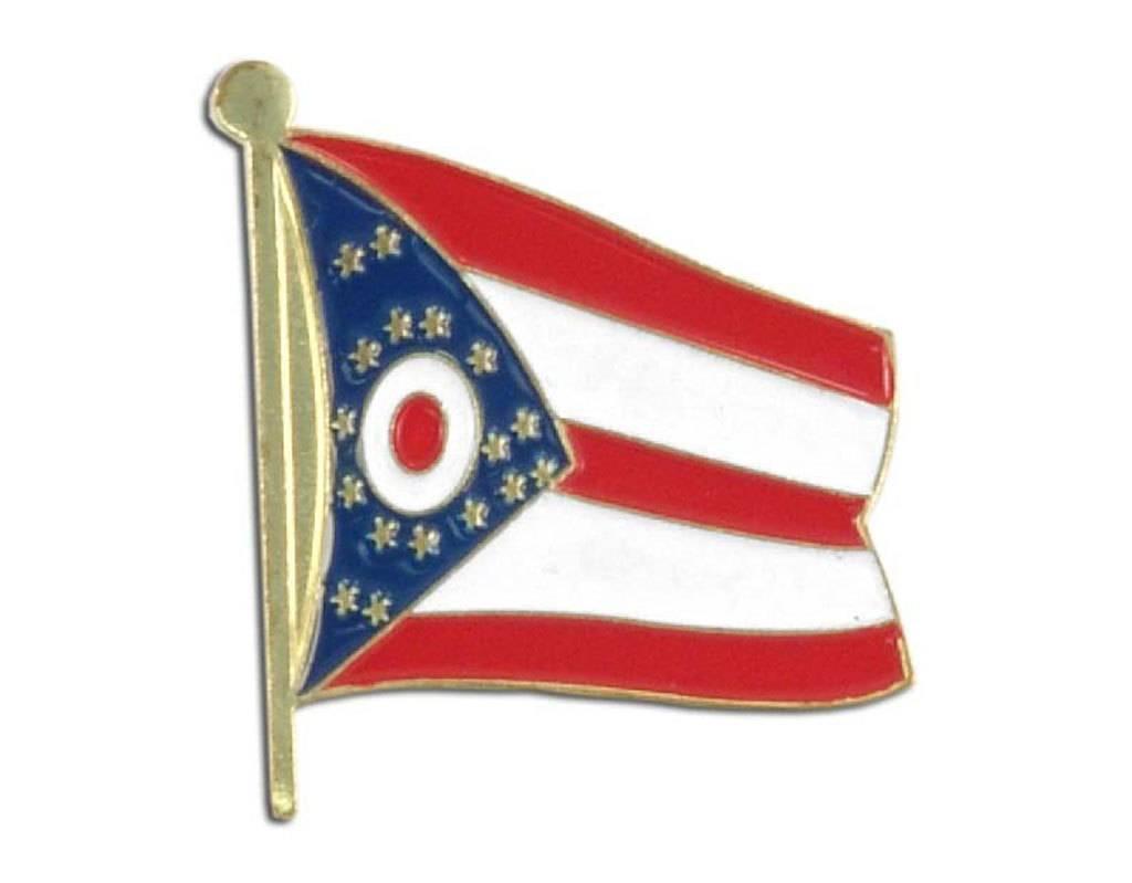 Online Stores Lapel Pin - Ohio Flag