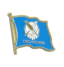 Online Stores Lapel Pin - Oklahoma Flag