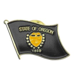 Online Stores Lapel Pin - Oregon Flag