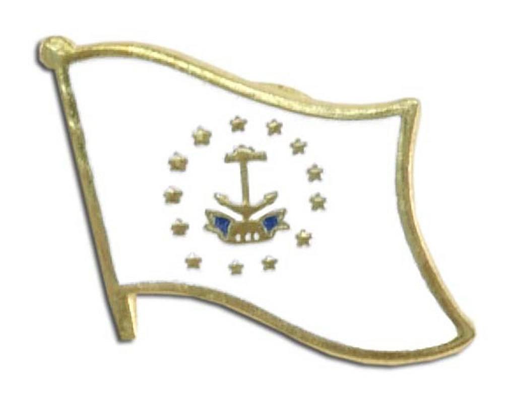 Online Stores Lapel Pin - Rhode Island Flag