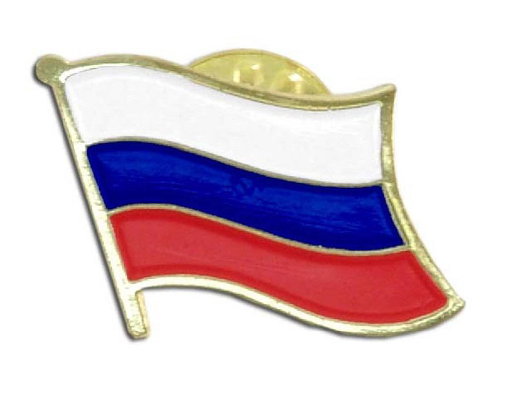 Online Stores Lapel Pin - Russia Flag