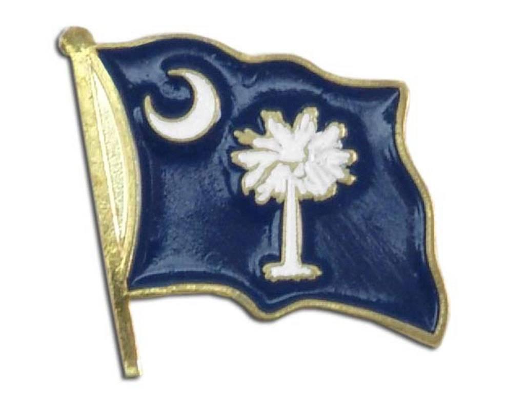 Online Stores Lapel Pin - South Carolina Flag