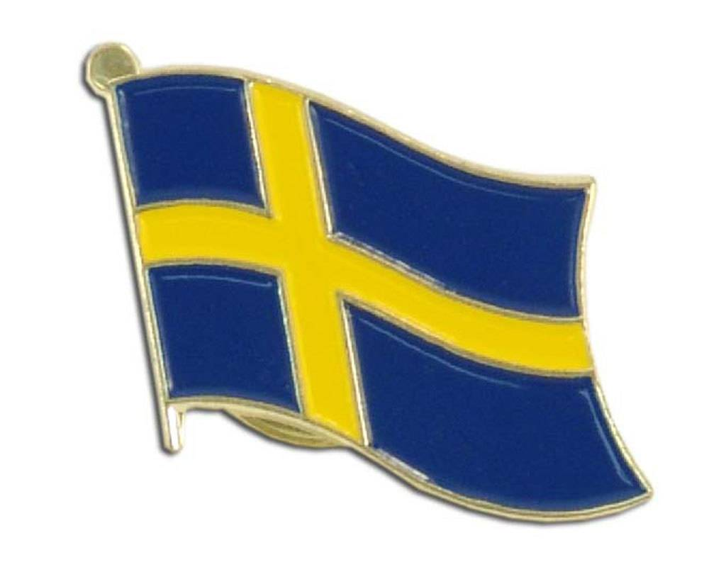 Online Stores Lapel Pin - Sweden Flag