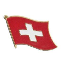 Popcorn Tree Lapel Pin - Switzerland Flag