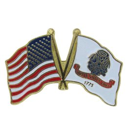 Online Stores Lapel Pin - US and Army Flags