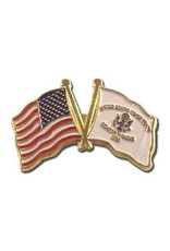 Online Stores Lapel Pin - US and Coast Guard Flags