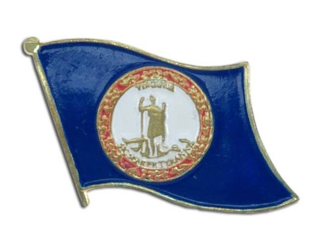 Online Stores Lapel Pin - Virginia Flag