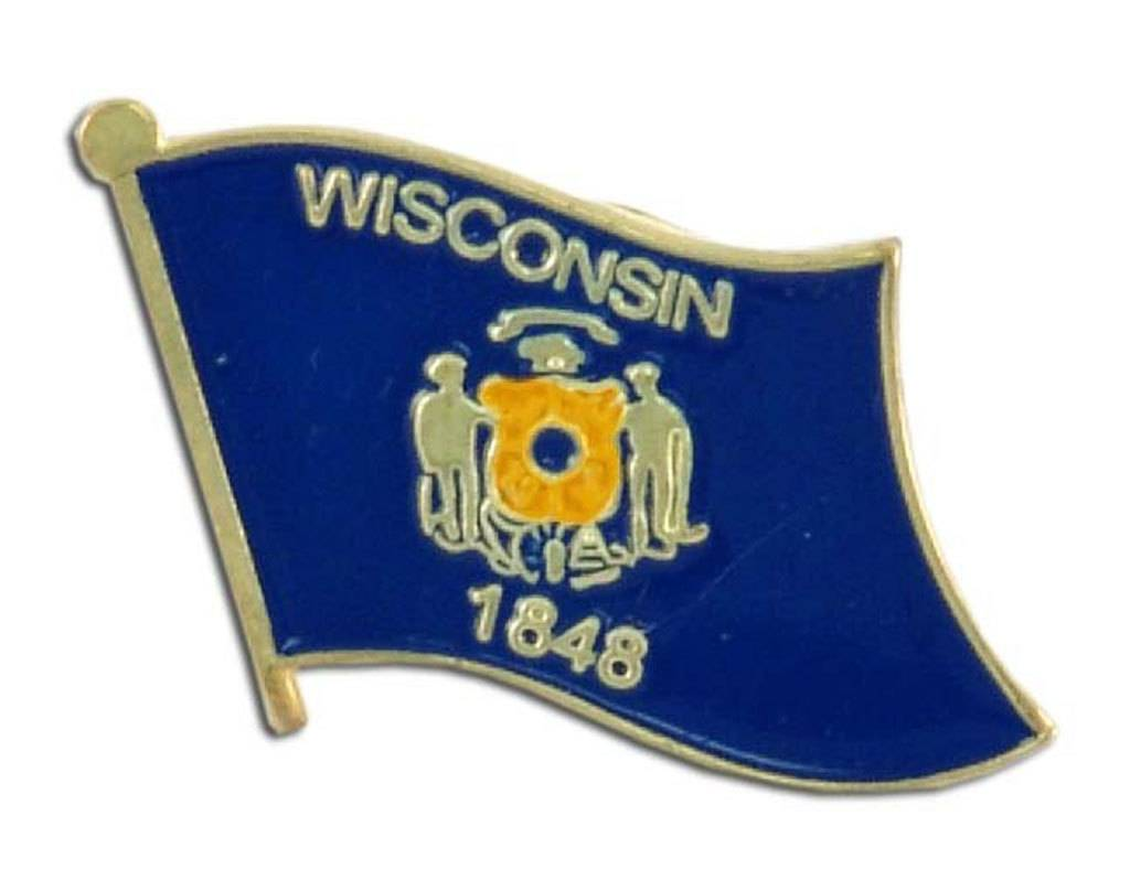 Online Stores Lapel Pin - Wisconsin Flag
