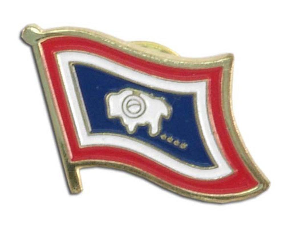 Online Stores Lapel Pin - Wyoming Flag