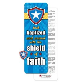 Ringmasters Just Baptized Shield - Pin & Bookmark