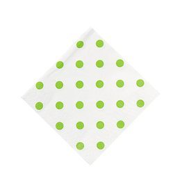 FUN EXPRESS Polka Dot - Lime Green Napkins, Beverage