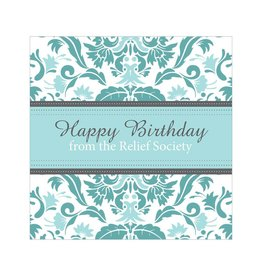 Popcorn Tree Relief Society Birthday Cards, Blue - 6ct
