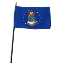 "Online Stores Stick Flag 4""x6"" - Air Force"
