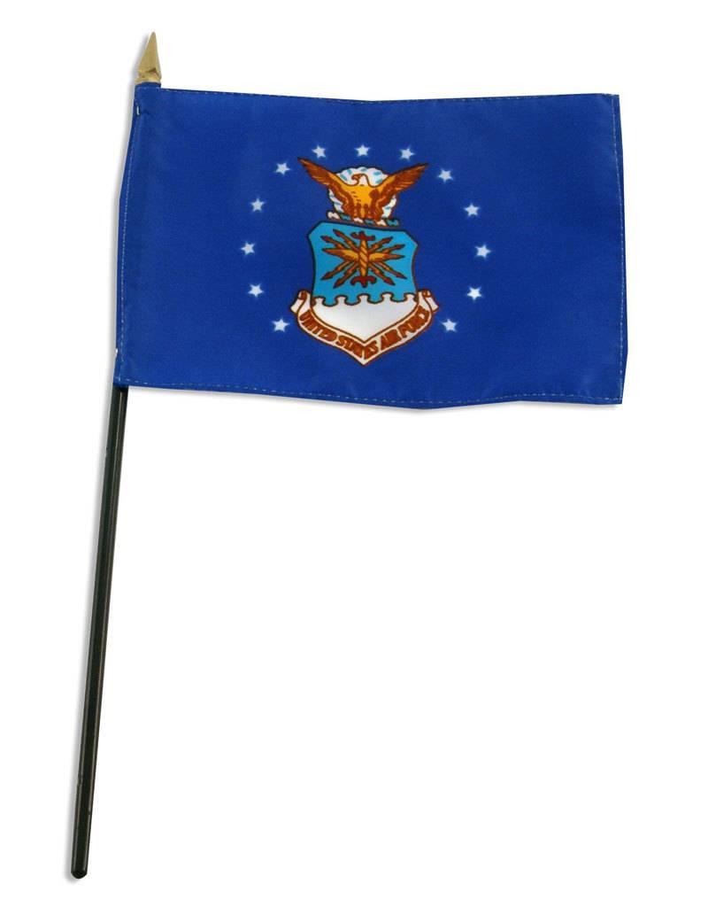 """Popcorn Tree Stick Flag 4""""x6"""" - Air Force"""
