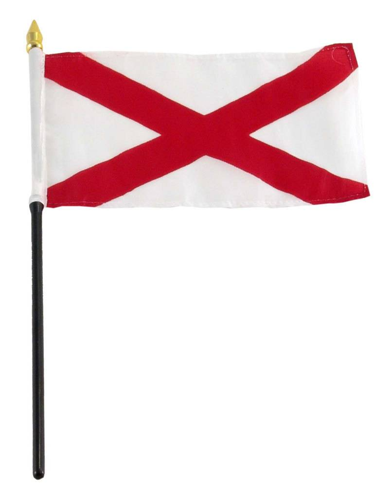 "Online Stores Stick Flag 4""x6"" - Alabama"