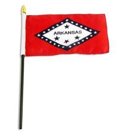 "Online Stores Stick Flag 4""x6"" - Arkansas"
