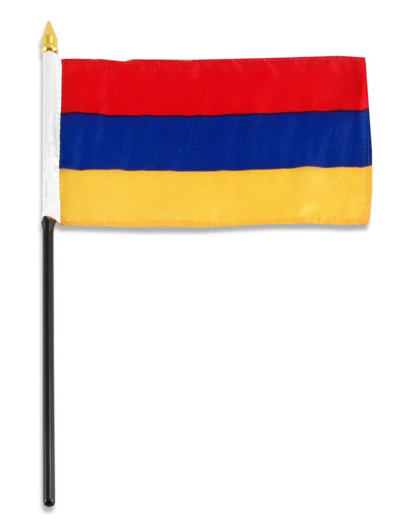 "Online Stores Stick Flag 4""x6"" - Armenia"