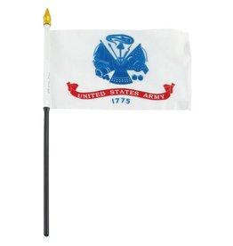 """Popcorn Tree Stick Flag 4""""x6"""" - Army"""