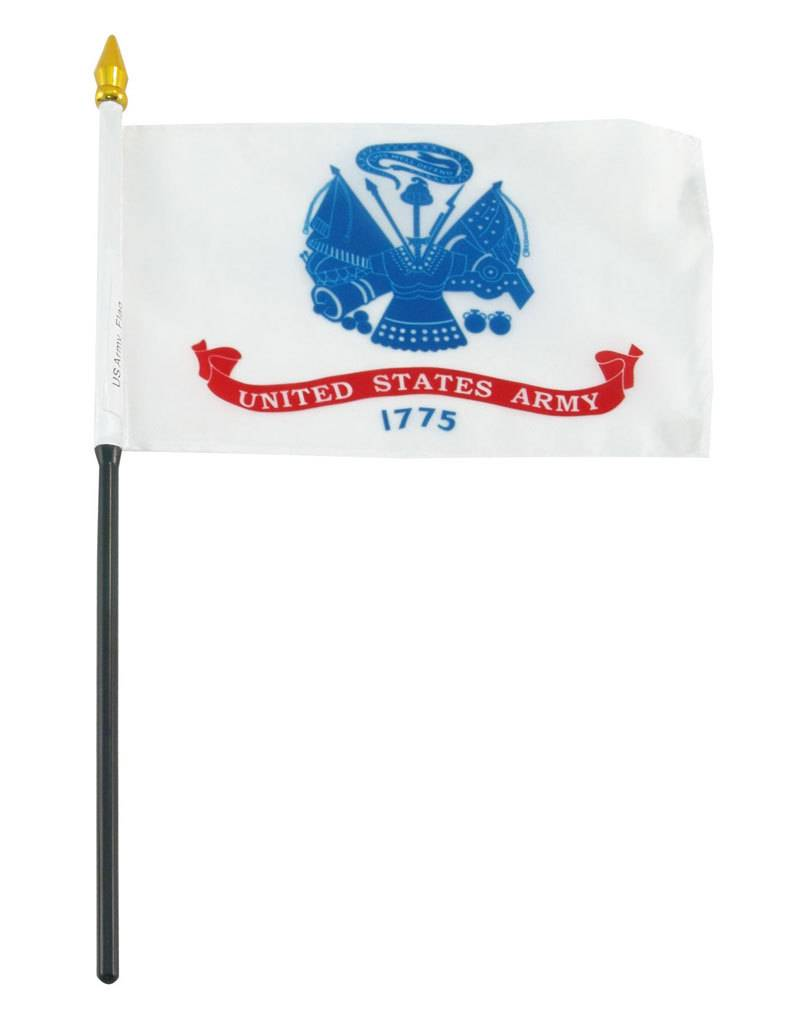 "Online Stores Stick Flag 4""x6"" - Army"
