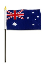 "Online Stores Stick Flag 4""x6"" - Australia"