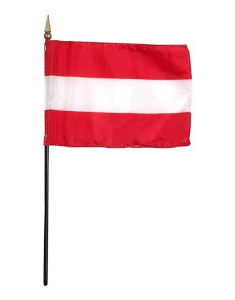 "Online Stores Stick Flag 4""x6"" - Austria"