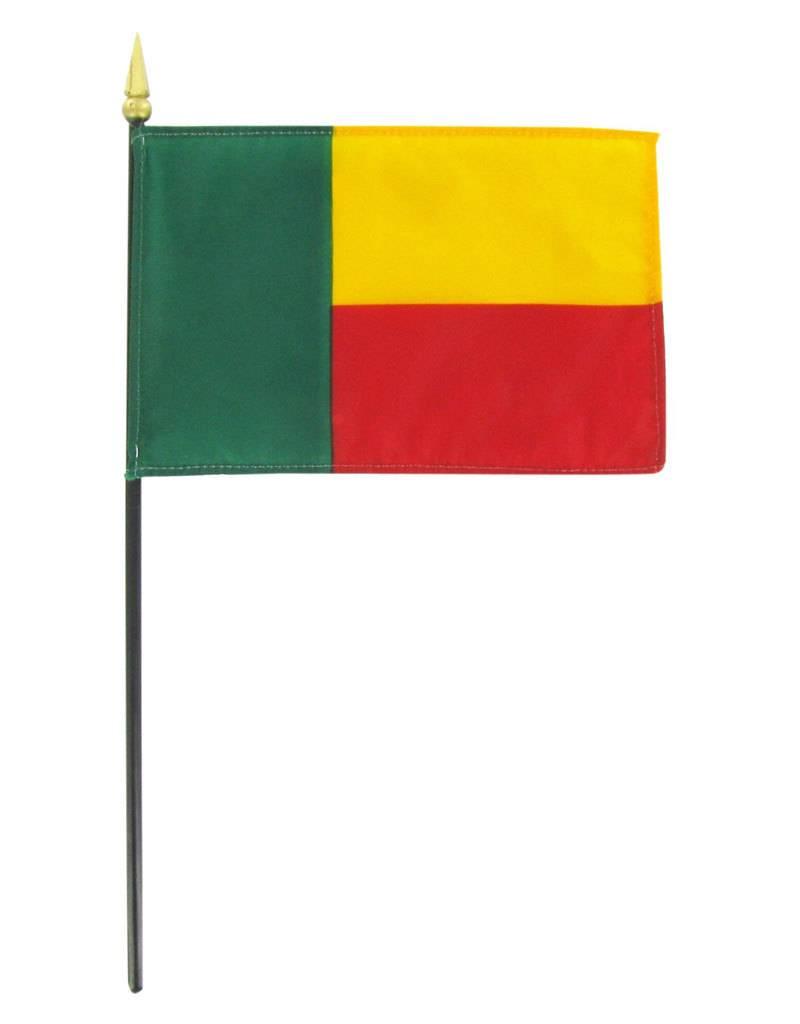 """Online Stores Stick Flag 4""""x6"""" - Benin"""