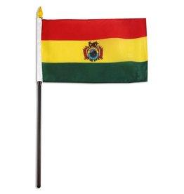 """Online Stores Stick Flag 4""""x6"""" - Bolivia"""