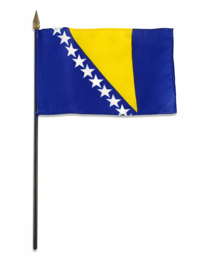 "Online Stores Stick Flag 4""x6"" - Bosnia"