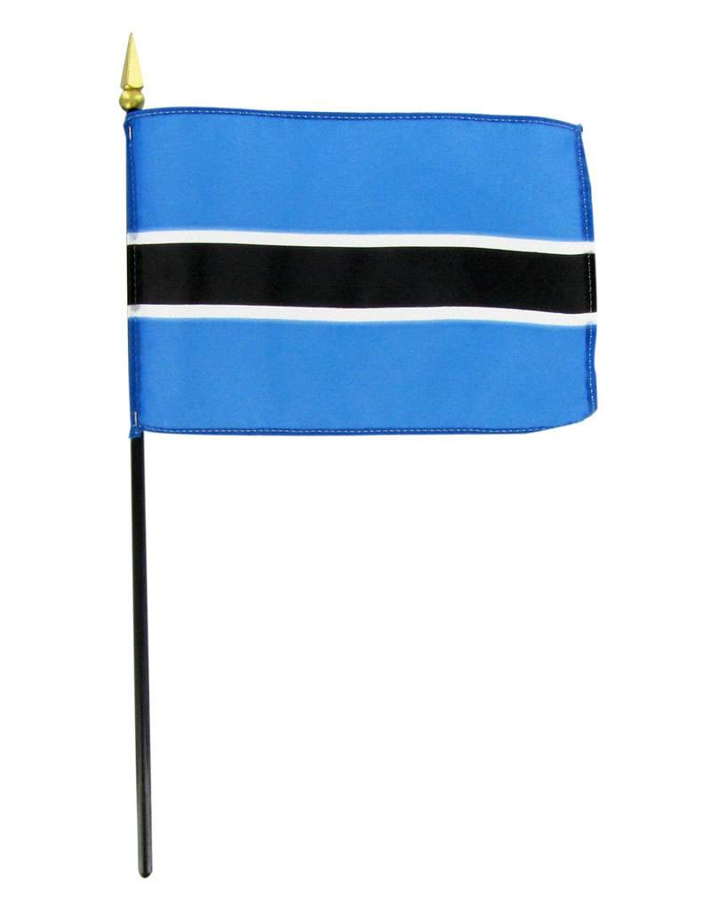 "Online Stores Stick Flag 4""x6"" - Botswana"