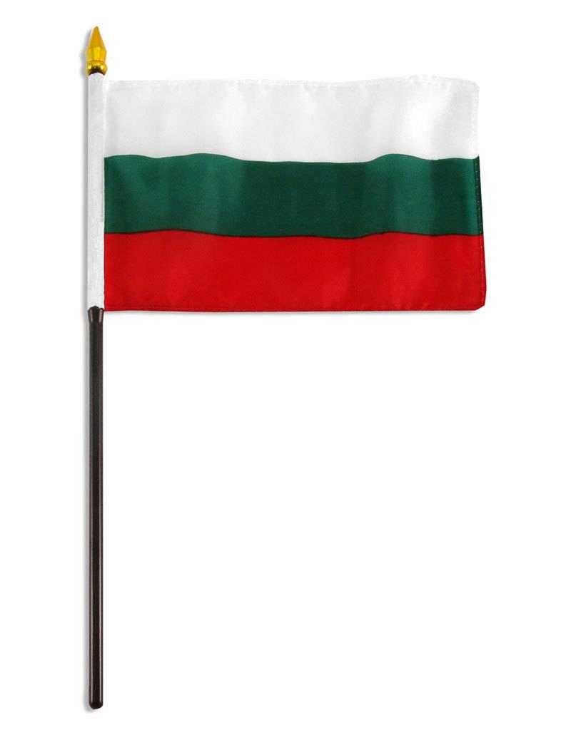 "Online Stores Stick Flag 4""x6"" - Bulgaria"