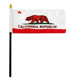"Online Stores Stick Flag 4""x6"" - California"