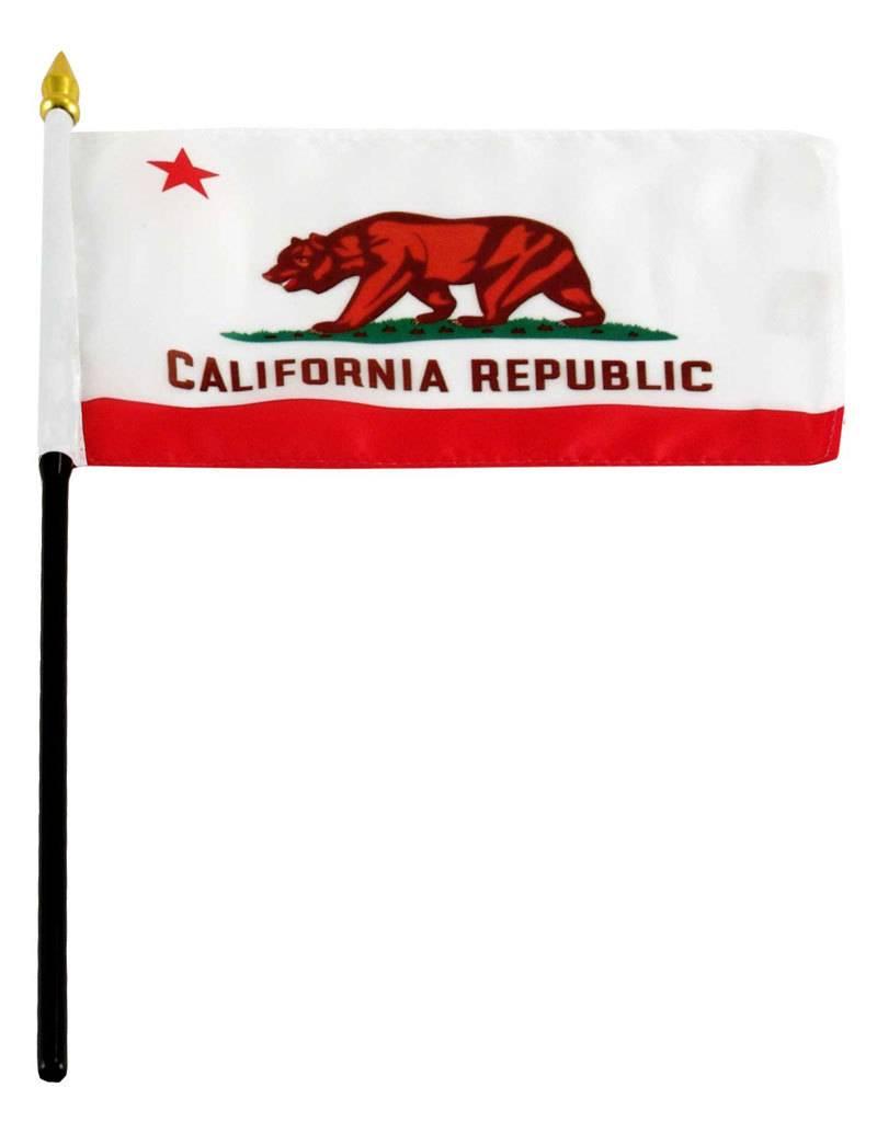 "Online Stores Stick Flag 4""x6"" - California"