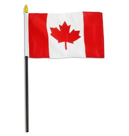 "Online Stores Stick Flag 4""x6"" - Canada"