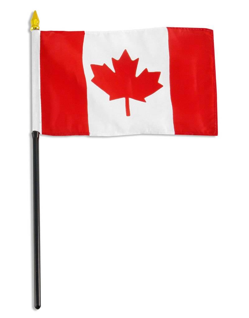 "Online Stores Stick Flag 4""x6"" - Canada"