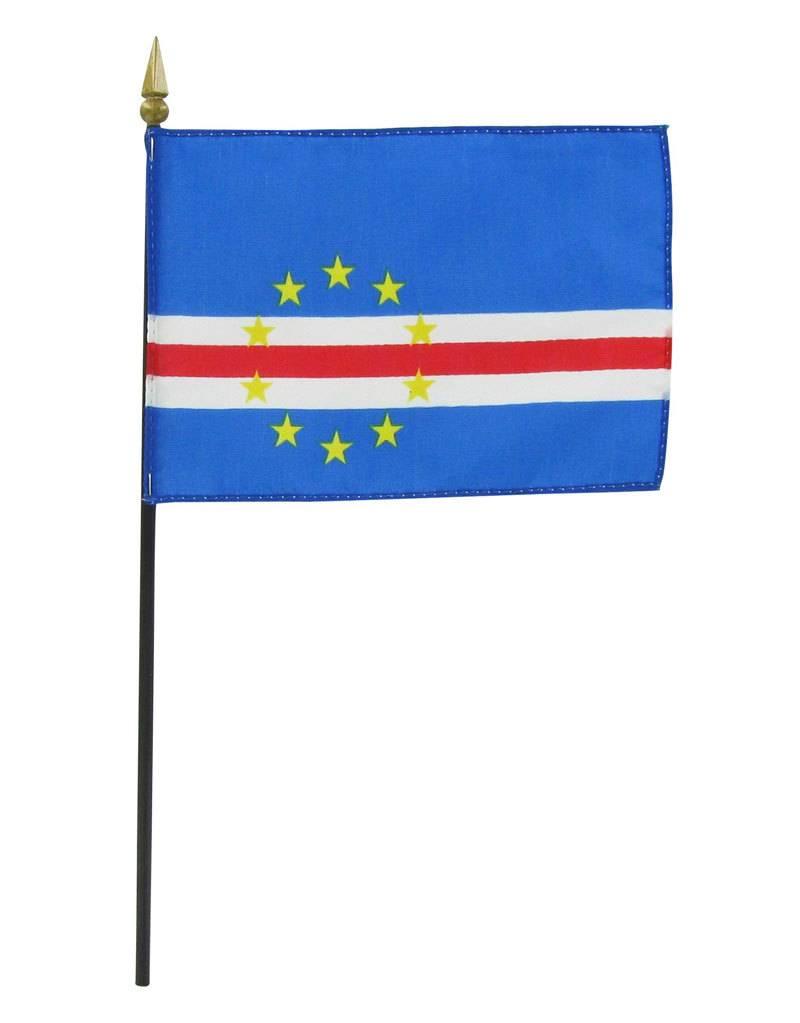 """Online Stores Stick Flag 4""""x6"""" - Cape Verde"""