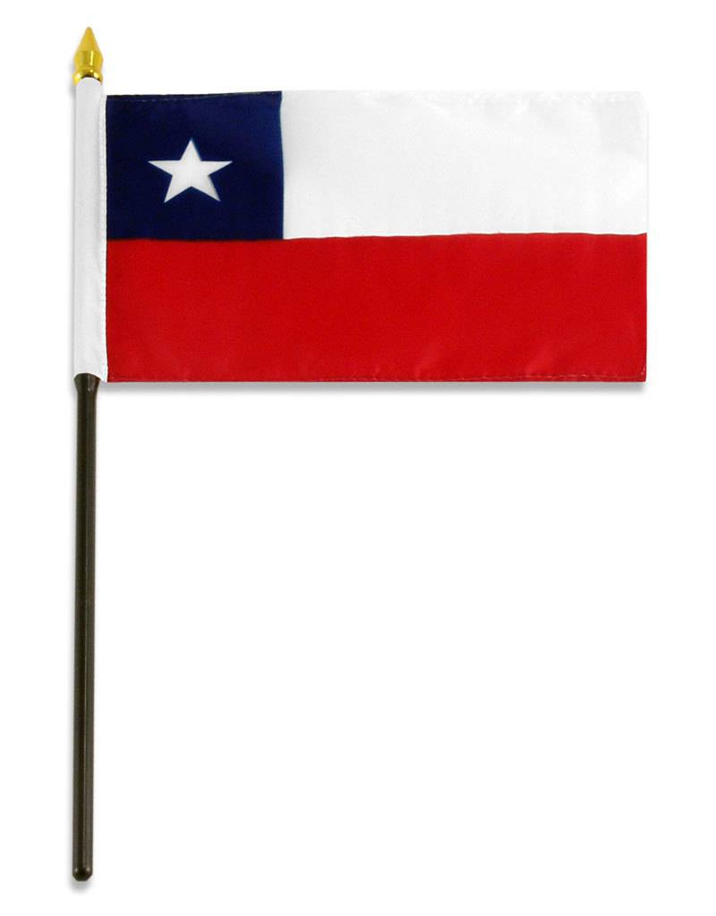 "Online Stores Stick Flag 4""x6"" - Chile"