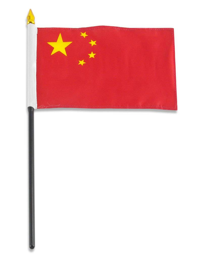 """Online Stores Stick Flag 4""""x6"""" - China"""