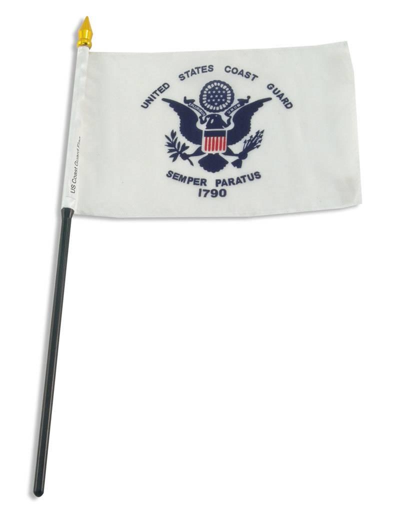 "Online Stores Stick Flag 4""x6"" - Coast Guard"