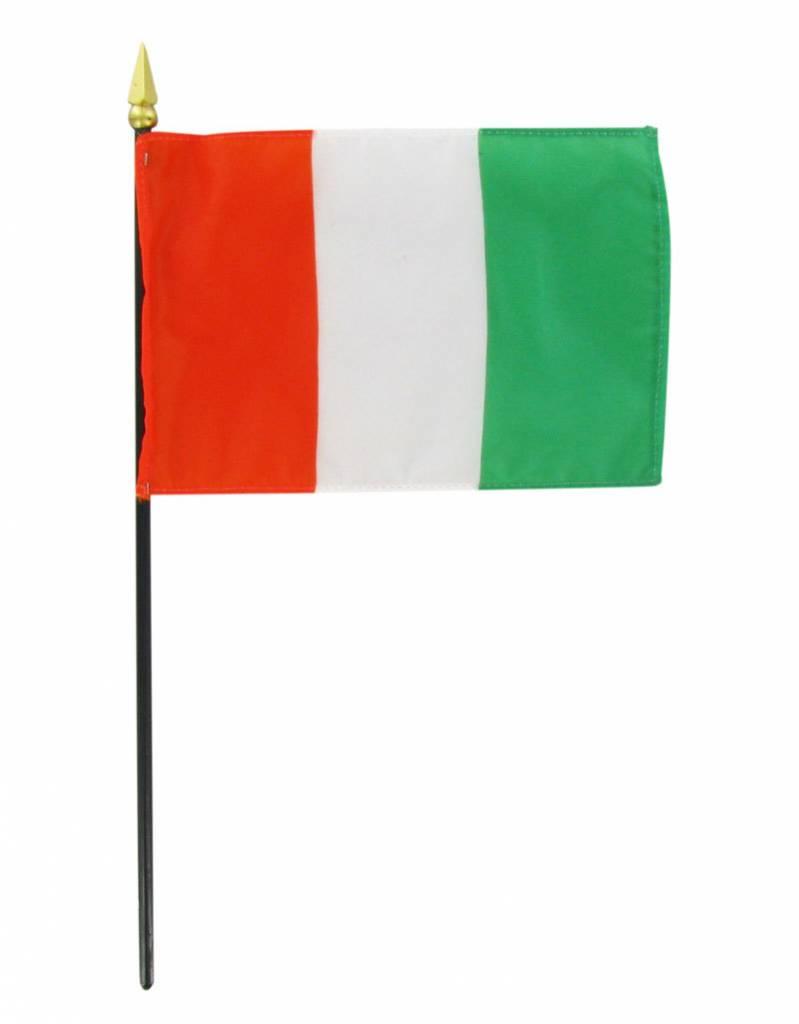 """Online Stores Stick Flag 4""""x6"""" - Cote d Ivoire (Ivory Coast)"""