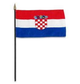 "Online Stores Stick Flag 4""x6"" - Croatia"