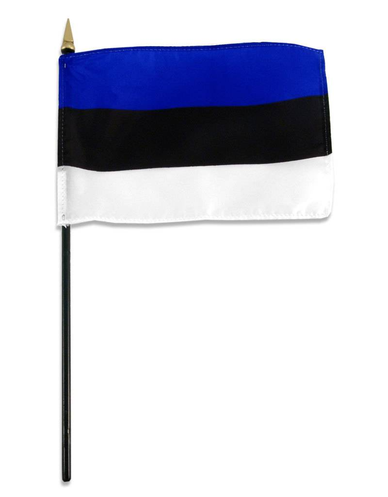 "Online Stores Stick Flag 4""x6"" - Estonia"