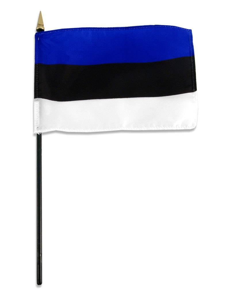 "Popcorn Tree Stick Flag 4""x6"" - Estonia"