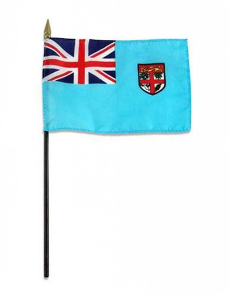 "Online Stores Stick Flag 4""x6"" - Fiji"