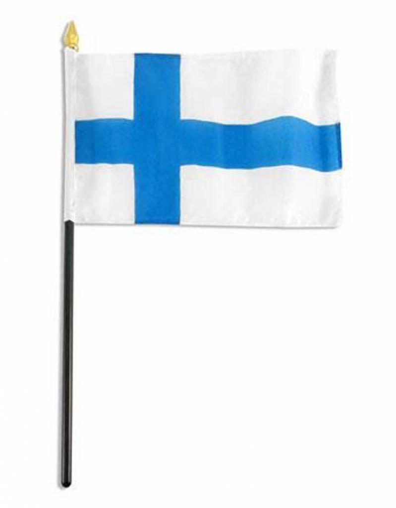 "Online Stores Stick Flag 4""x6"" - Finland"